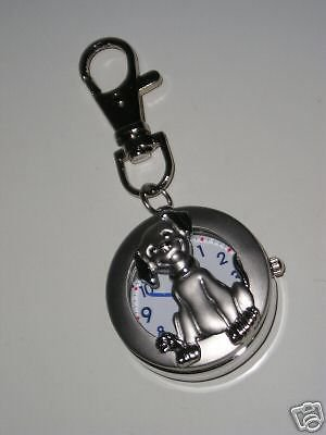 NEW Round Dog Key Ring Pocket Watch #401 Free shipping
