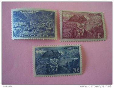 Andorra france MNH 3 stamps