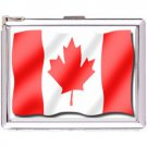 H5S442 Cigarette Case with lighter Canada Flag Picture Free shipping