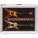 H5S474 Cigarette Case with lighter Instrument Guitar Picture Free shipping