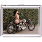 H5S596 Cigarette Case with lighter Pin Up Girl Picture Free shipping