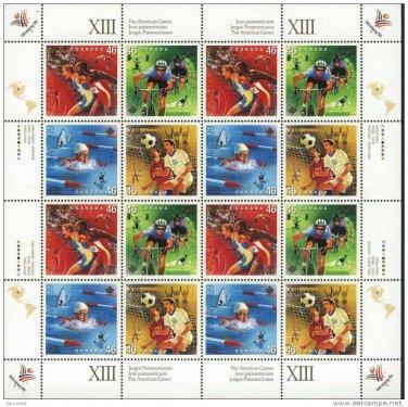 Canada Sc 1804a Pan American Games sheet mnh