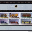 Canada 1527 MNH Historic Vehicles, Fire engine, Bus