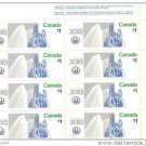 Canada 1976 Summer Olympic Games $1 Stamps Block of 8 mnh