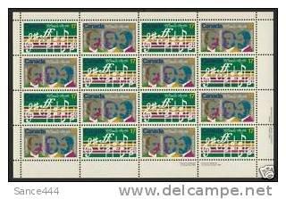 "Canada 857-8 Sheet MNH Music, Composer, ""O Canada"""