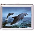 H5S672 Cigarette Case with lighter Dolphin Animal Picture Free shipping