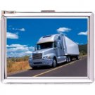 H5S636 Cigarette Case with lighter Truck Picture Free shipping