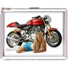 H5S610 Cigarette Case with lighter Custom Motorcycle Picture Free shipping