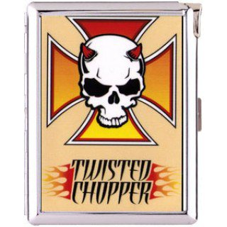 H5S604 Cigarette Case with lighter skull Picture Free shipping