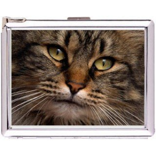 H5S670 Cigarette Case with lighter Cat Animal Picture Free shipping