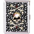 H5S131 Cigarette Case with lighter Skull Dragon Picture Free shipping