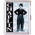H5S127 Cigarette Case with lighter Charlie Chaplin Picture Free shipping