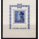 CROATIA B31 MNH SS Ante Pavelich 12k + 8k
