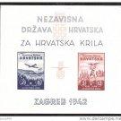 Croatia B11 Sheet MNH Imperf.