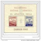 Croatia B11 Sheet MNH Zagreb 1942