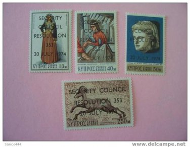 CYPRUS 424-7 mnh Security Council