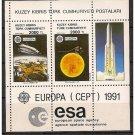 Cyprus Turkey Europa 1991 MNH SS