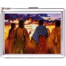 H5S432 Cigarette Case with lighter American Native Picture Free shipping
