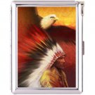 H5S430 Cigarette Case with lighter American Native Picture Free shipping