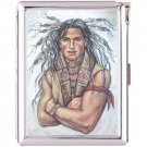H5S428 Cigarette Case with lighter American Native Picture Free shipping