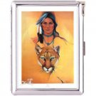 H5S423 Cigarette Case with lighter American Native Picture Free shipping