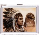 H5S431 Cigarette Case with lighter American Native Picture Free shipping