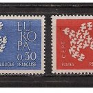 France Europa 1961 mnh