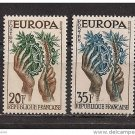 France Europa 1957 mnh scott 846-7