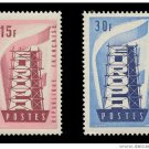 France Europa 1956 mnh scott 805-6