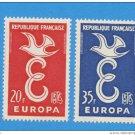 France Europa 1958 mnh scott 889-90