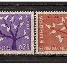 France Europa 1962 mnh