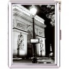 H5S397 Cigarette Case with lighter Paris France Picture free shipping