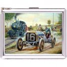 H5S649 Cigarette Case with lighter Racing Vintage Pic Free shipping