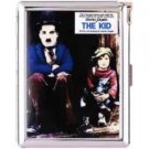 H5S126 Cigarette Case with lighter Charlie Chaplin Picture Free shipping