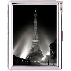 H5S406 Cigarette Case with lighter Paris France Picture Free shipping