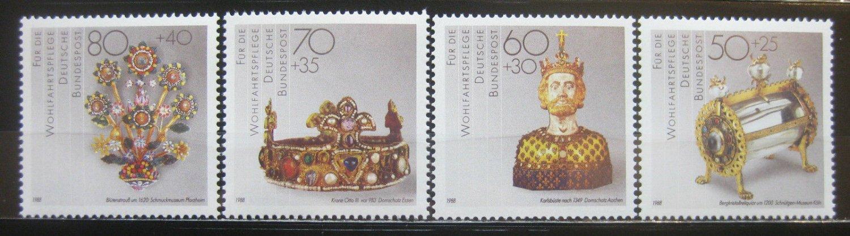 German 1988 gold artifacts jewels gems minerals mnh