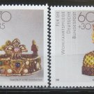 German 1988 gold artifacts jewels gems minerals mnh