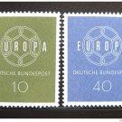 Germany Europa 1959 mnh scott 805-6