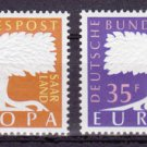 GERMANY SAAR Europa 1957 mnh