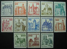 GERMANY 1231-1242 mnh castles missing 50p and 200p