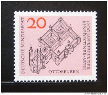 GERMANY 880 MNH BENEDICTINE ABBEY ANNIV.