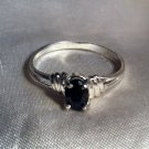.50ct Natural Deep Blue Sapphire 925 Sterling Silver Ring (Handmade)