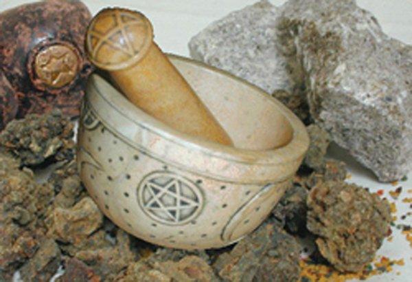 Soapstone Pentagram Mortar & Pestle dwp