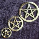 SMALL Silver or Brass Altar Pentacle DWP