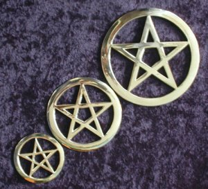 LARGE Silver or Brass Altar Pentacle DWP