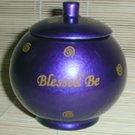 """Blessed Be"" Purple Wishing Bowl dwp"