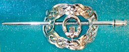 Barrette: Celtic Oval, silverplated:JB5006