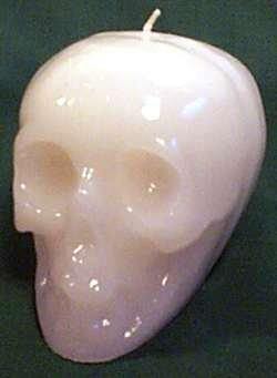"Skull 3 1/2"" Candle"