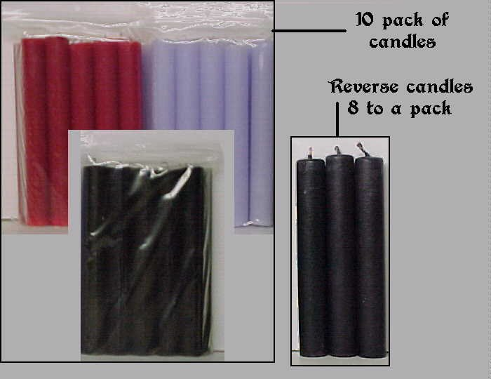 Stick Candles/WHITE 10 pack