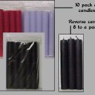 Stick Candles/BLACK 10 pack